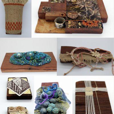 fibre art Australia out of the wood