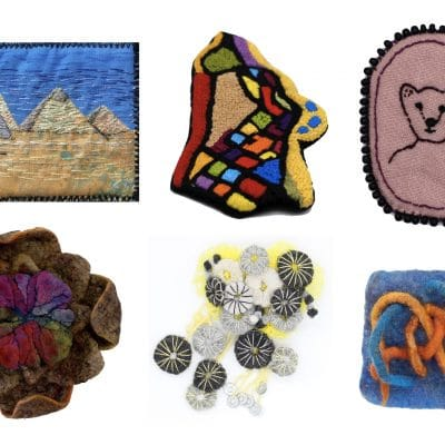 broaching the subject textile art brooches