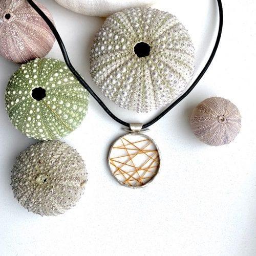 Woven Kintsugi necklace