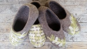 Petra Hilson Felted Slippers